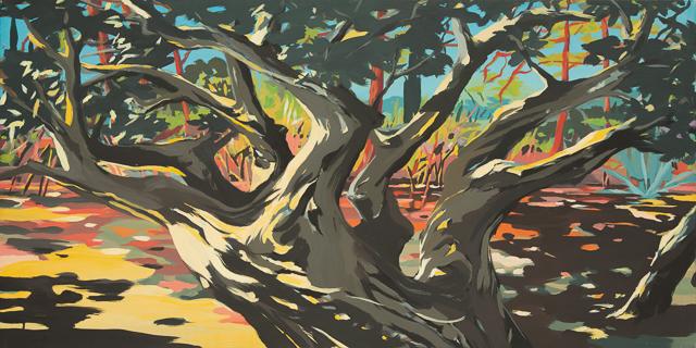 Arbre - Cala Rossa - Peinture de Corse de Michelle