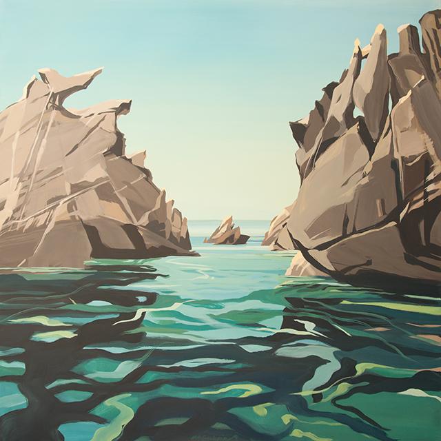 Peinture de Corse de Michelle AUBOIRON - Les Cerbicales - Le Toro