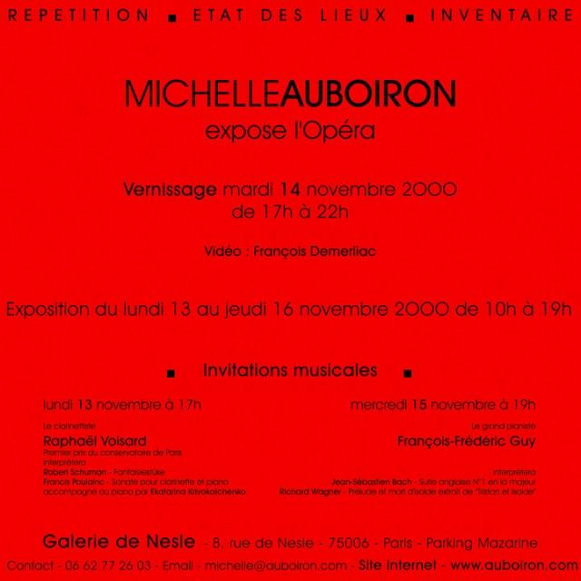Carton-Invitation-expo-OPERA-Peintures-de-Michelle-AUBOIRON-Galerie de Nesle-Paris-2000-verso