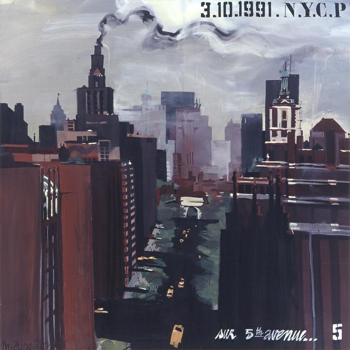 Parson School of Design 05 - Peinture de New York par Michelle AUBOIRON