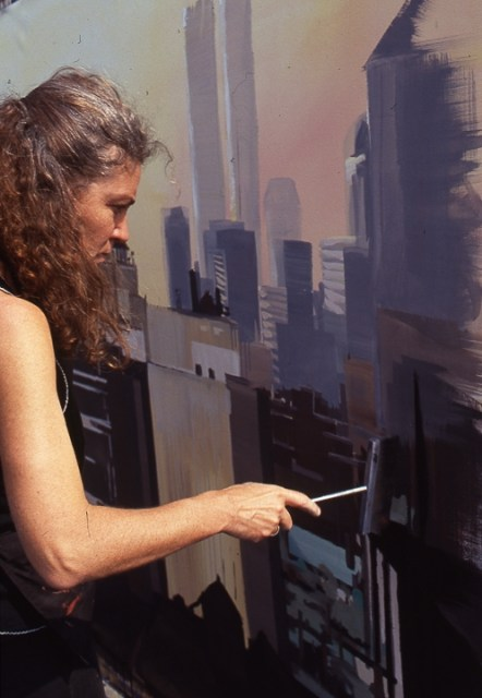 Peinture-live-from-New-York-par-Michelle-Auboiron