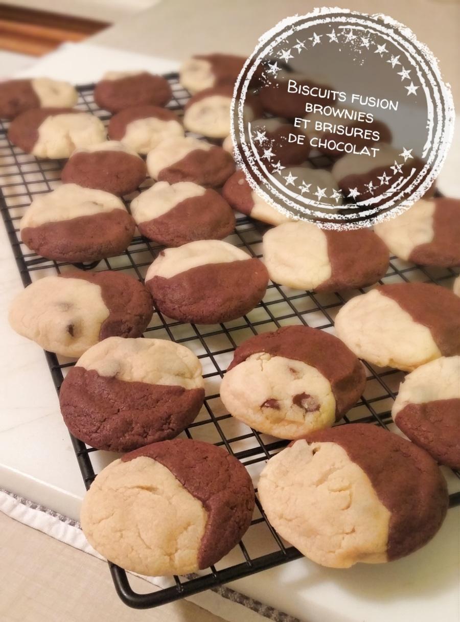 Biscuits fusion brownies et brisures de chocolat - Auboutdelalangue.com