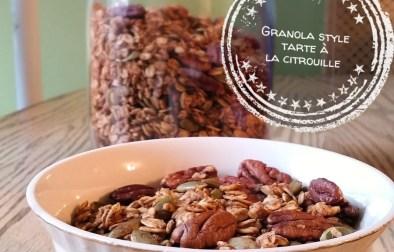 Granola style tarte à la citrouille - Auboutdelalangue.com
