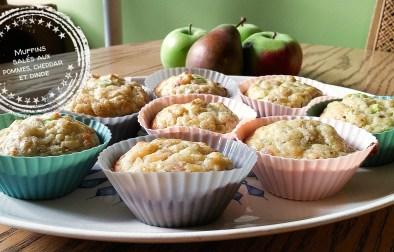 Muffins salés aux pommes, cheddar et dinde - Auboutdelalangue.com