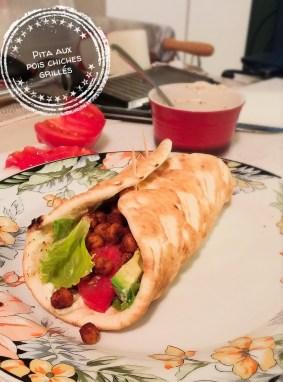 Pita aux pois chiches grillés - Auboutdelalangue.com