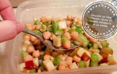 Salade de pois chiches, céleri et pommes, vinaigrette à la Dijon - Auboutdelalangue.com