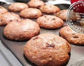 Muffins au son, fruits séchés et chocolat - Auboutdelalangue.com