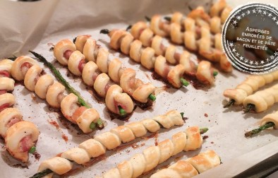 Asperges enrobées de bacon et de pâte feuilletée - Auboutdelalangue.com