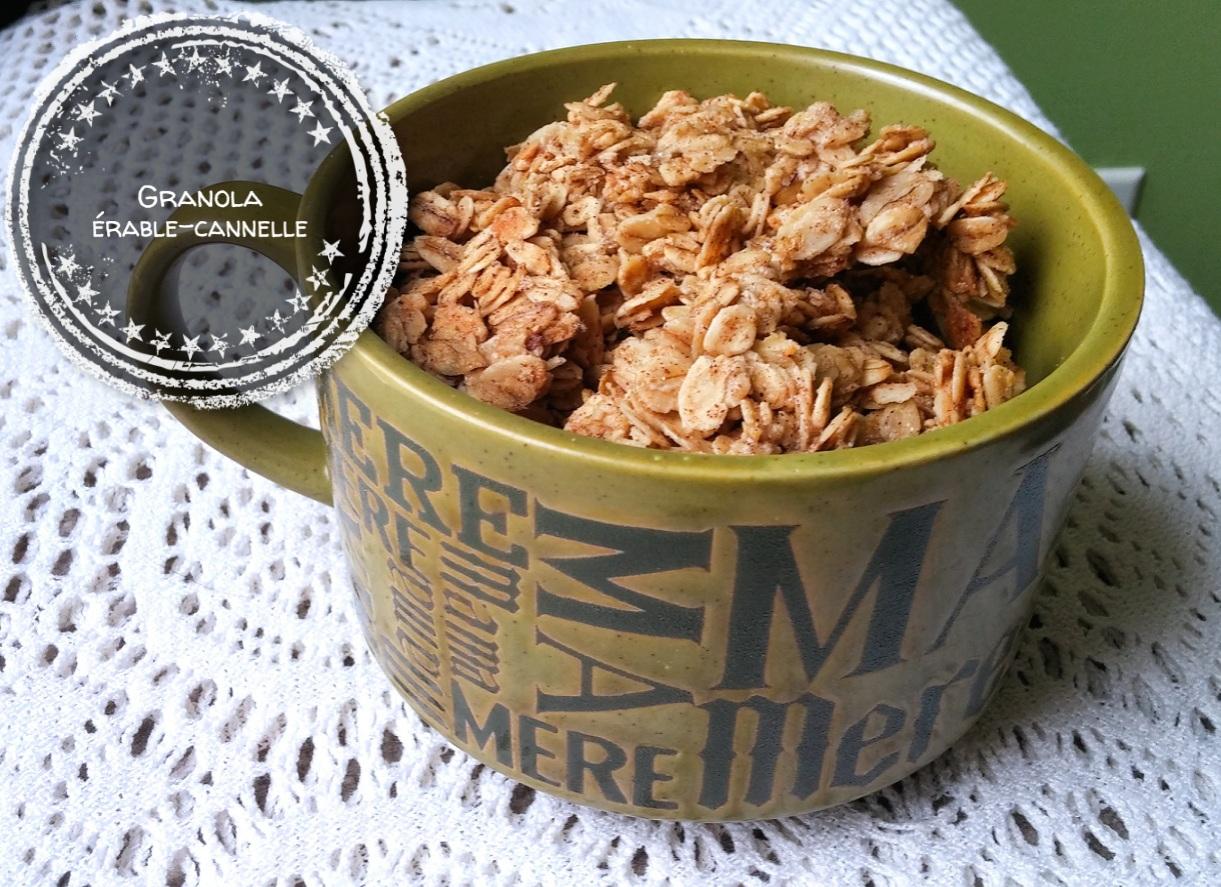 Granola érable-cannelle - Auboutdelalangue.com