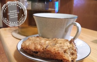 Barres biscuits style pain aux bananes - Auboutdelalangue.com