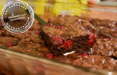 Brownies aux framboises - Auboutdelalangue.com