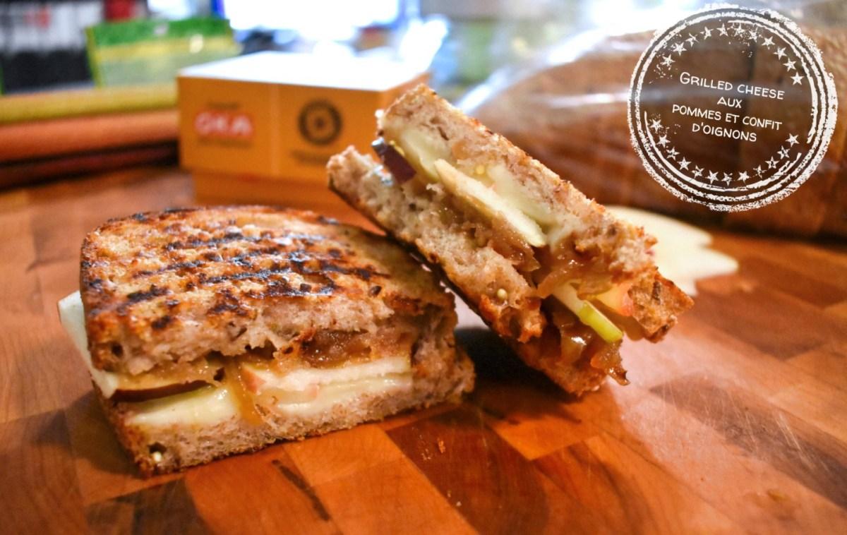 Recette express: Grilled cheese aux pommes et confit d'oignons