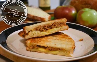 Grilled cheese au porc effiloché et pommes - Auboutdelalangue.com