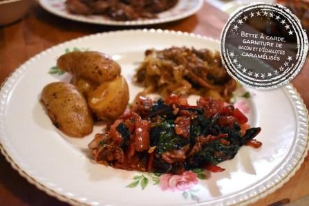 Bette à carde, garniture de bacon et d'échalotes caramélisés - Auboutdelalangue.com