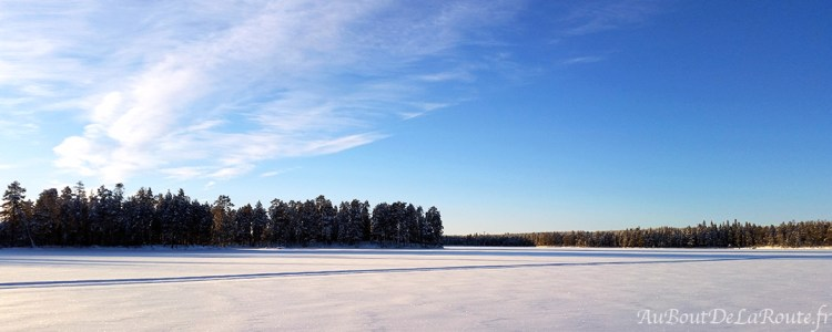 Lac gelé à Hossa