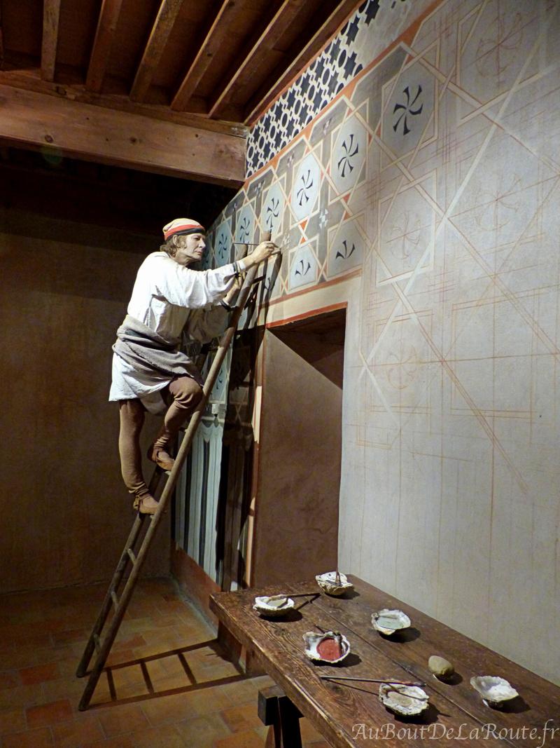 Mise en scene de creation d une fresque