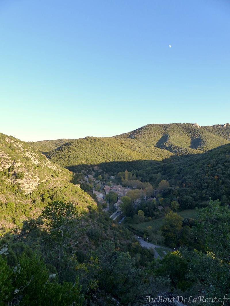 Village de Termes depuis le chateau