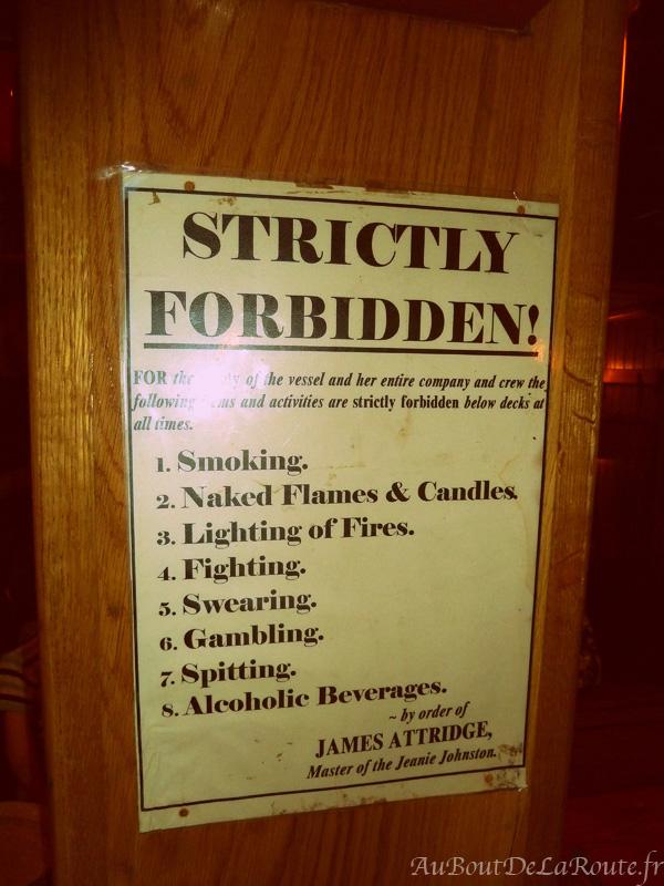 Affiche Interdictions