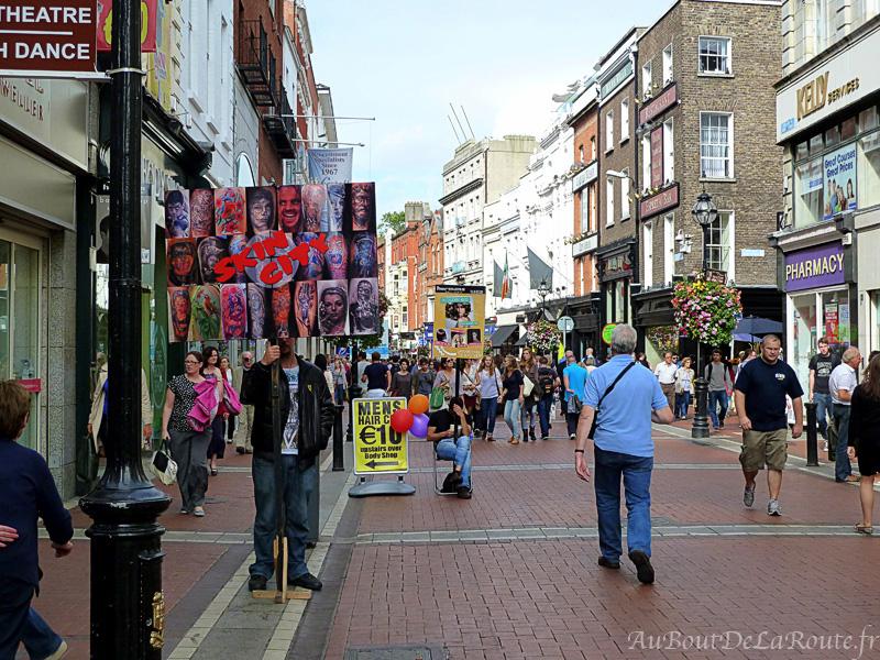 Publicité dans Grafton Street
