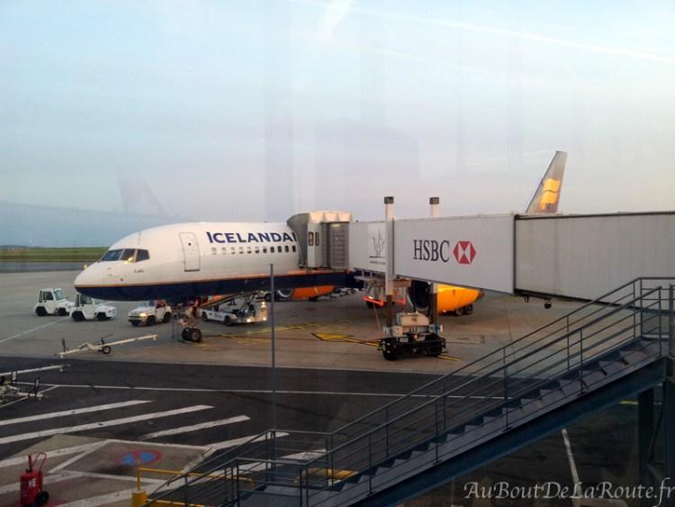 Avion Icelandair à Paris CDG