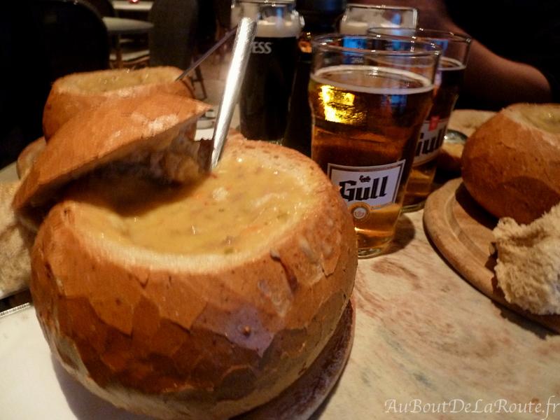 Soup in bread
