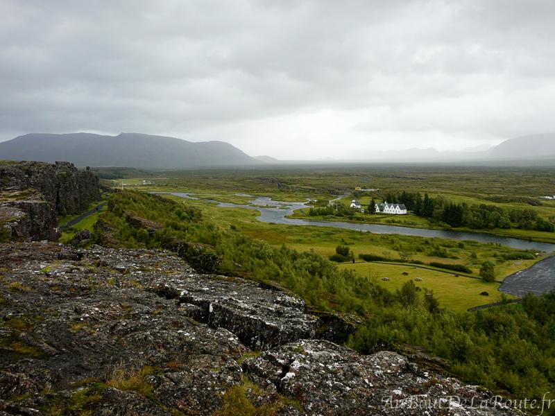 Point de vue sur Þingvellir