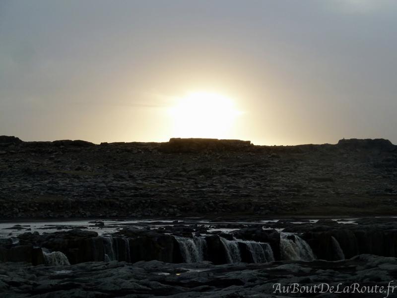 Coucher du soleil sur Selfoss