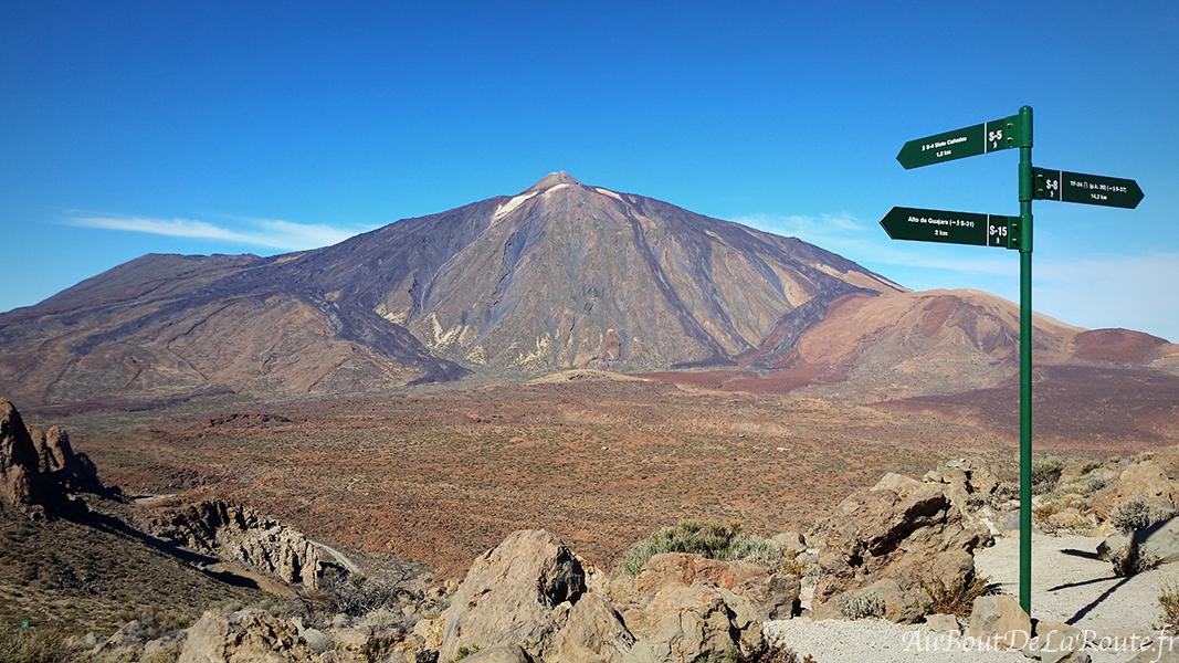 Teide depuis le Col du Guajara