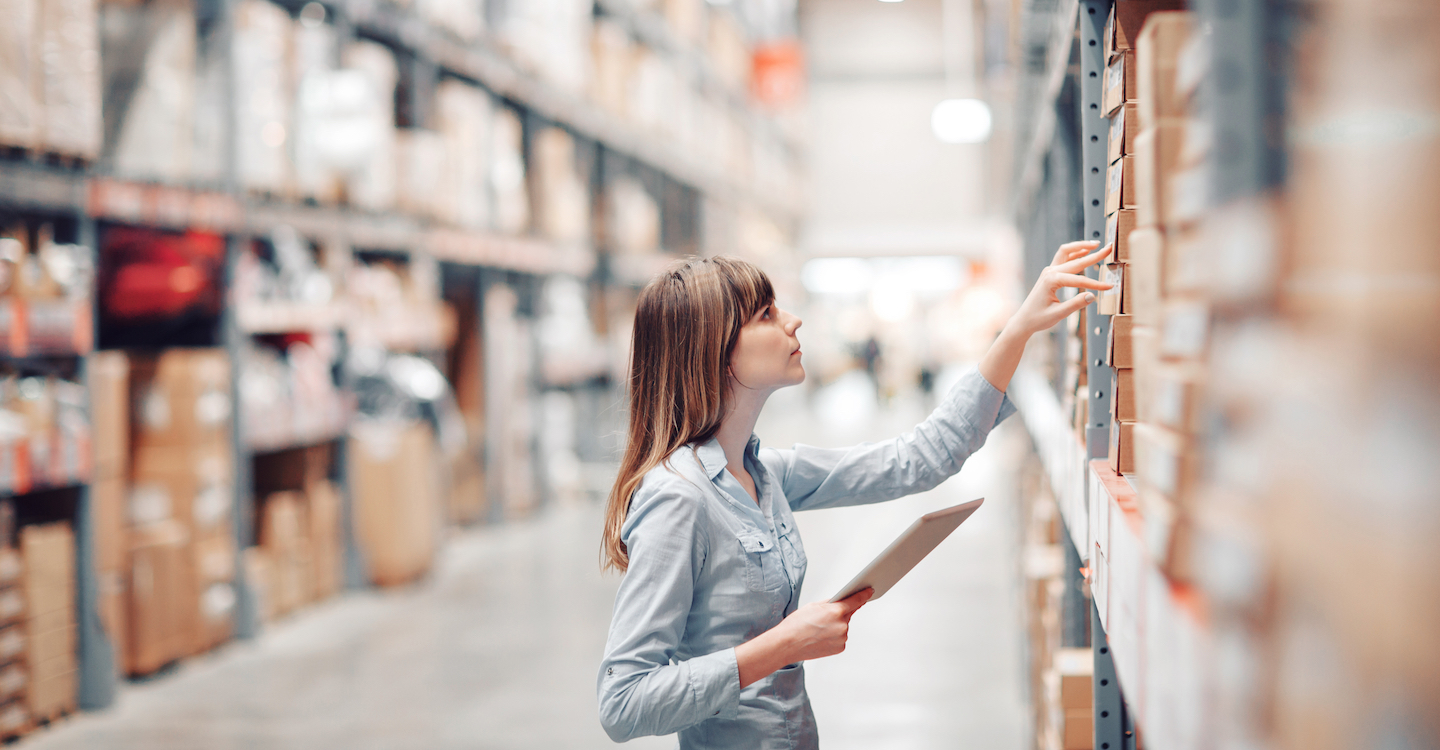 woman in warehouse manufacturing SEO