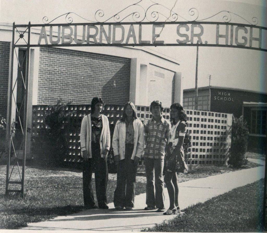 AHS sign, 1976