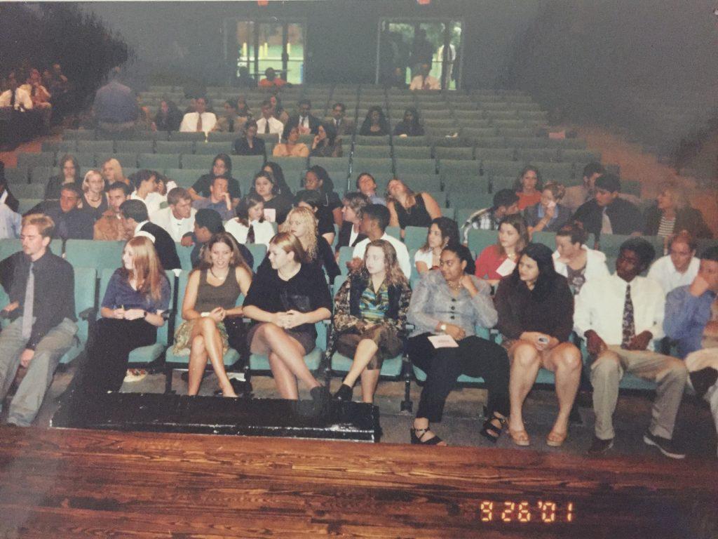 Inside the auditorium 2001