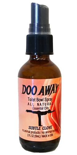 DooAway Clove toilet bowl poop spray usage instructions
