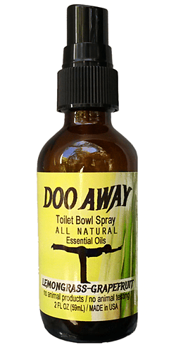 DooAway Natural Toilet Spray, Lemongrass Grapefruit Natural Essential Oils by Auburn Yoga Studio