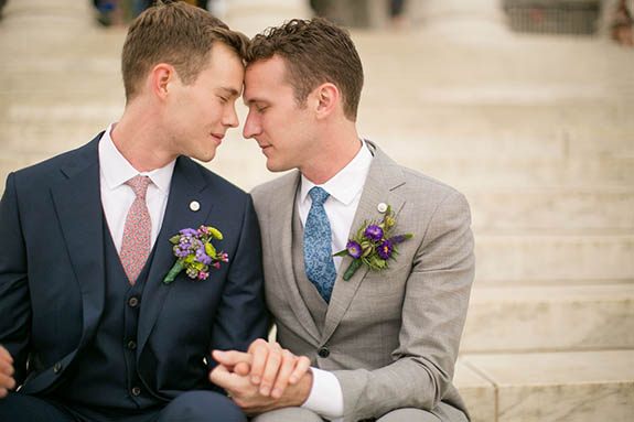 Same-sex wedding fashion for gay men