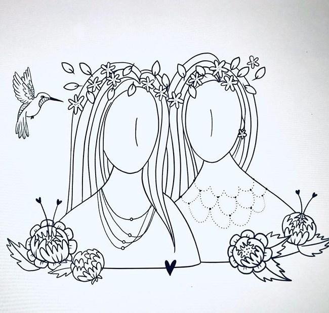 Régine Dessine, des dessins poétiques et tout en douceur sur de jolies cartes à texte pour accompagner vos petits présents.