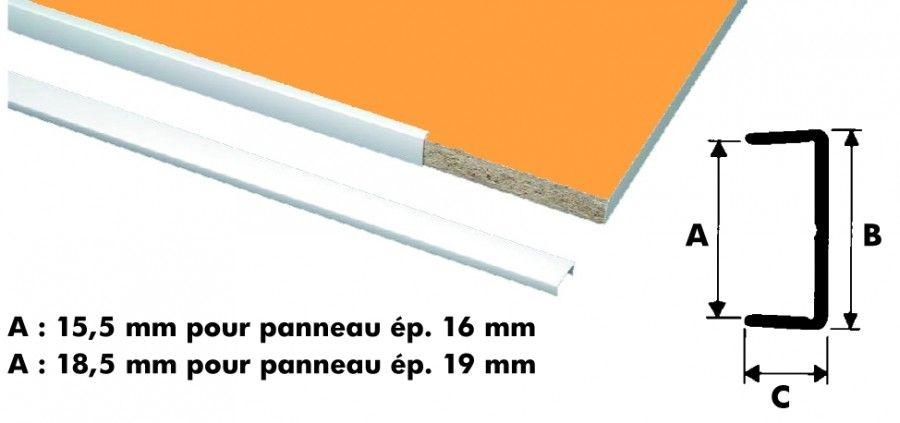 profile plastique blanc chant u rigide longueur 2 75 m