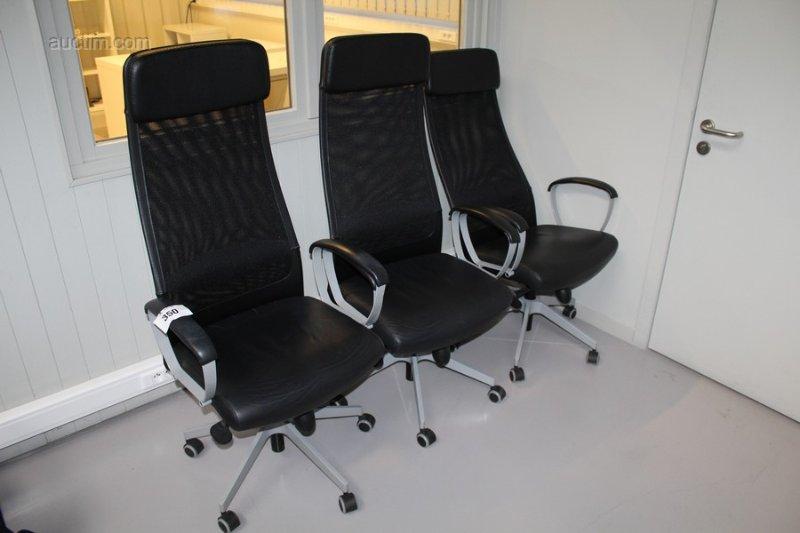 3 Chaises De Bureau Ergonomiques Ikea Markus Equipees