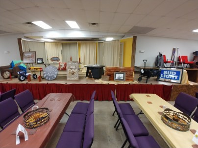 Setting up for auction