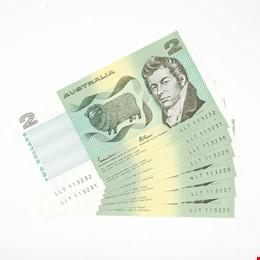 Seven Consecutively Numbered Australian Johnston/ Fraser  Notes, LLT113225-LLT113232