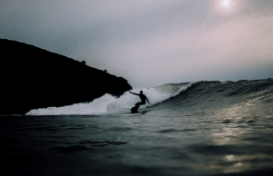 riding a small wave