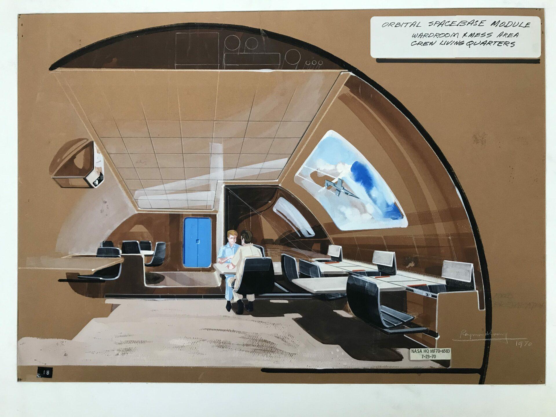 Raymond LOEWY - Orbital spacebase module - NASA