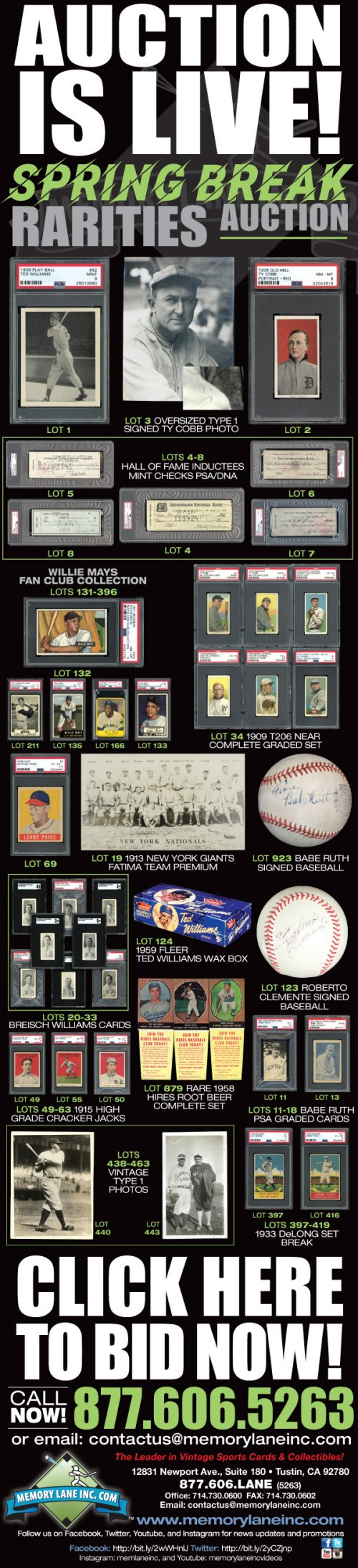 Memory Lane To Offer Worlds Best Willie Mays Card Collection In