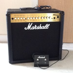 MARSHALL MG series 50DFX amplifier complete with power cable and footswitch.