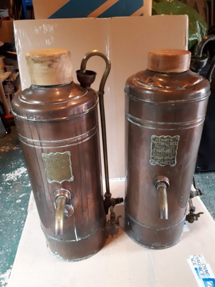 Pair of Victorian Victor Geysers
