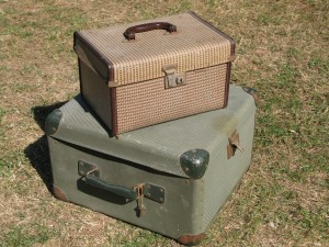Vintage Cases - Hat Box and Projector Case
