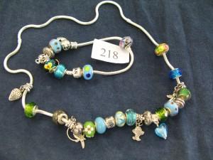 Pandora Charm necklace and bracelet