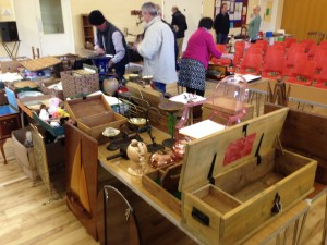 Six tables of lots for todays auction