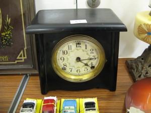 Lot 63 - Slate Mantlepiece Clock - Sold for £25