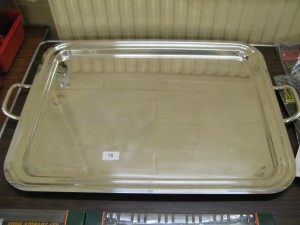 Lot 78 - Large Silver Plated Tray - Sold for £30