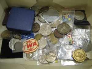 Lot 82 - Collection of Coins, Medals and Badges - Sold for £30